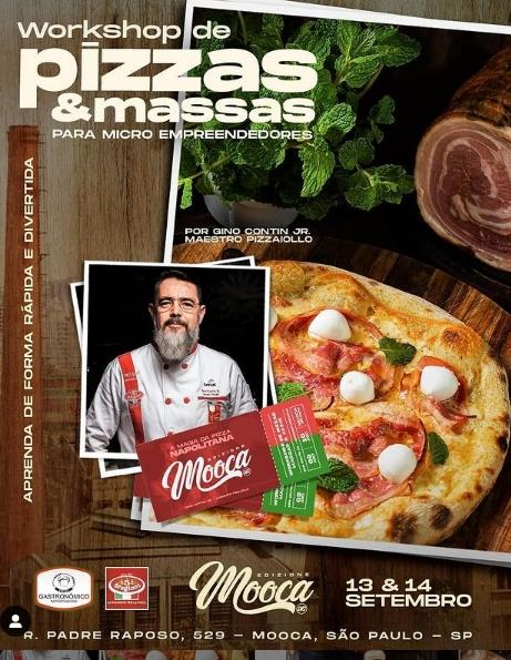 Em setembro maestro pizzaiolo ensina a preparar a verdadeira pizza napolitana e massas de longa fermentação para preparação de pães e petiscos