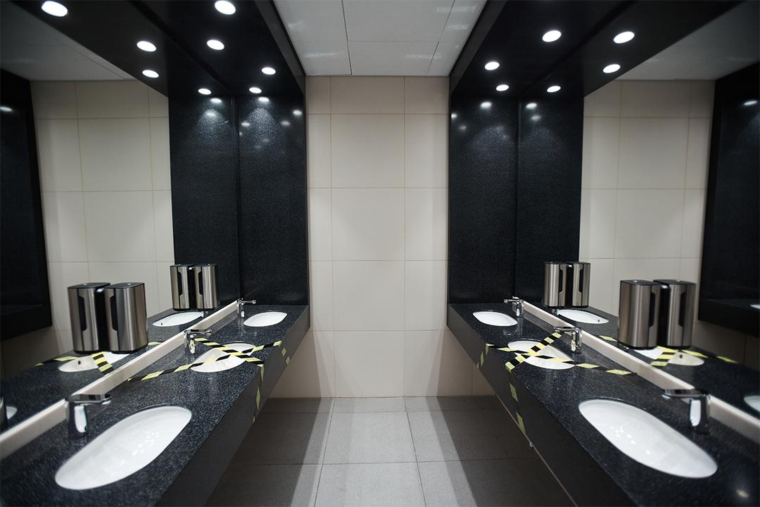 banheiro iluminaçao